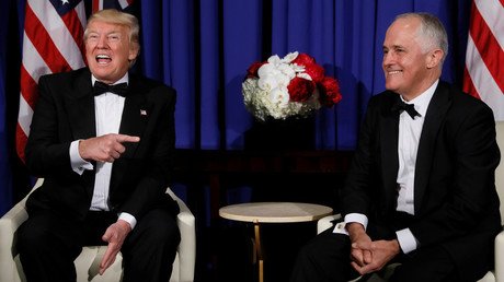 U.S. President Donald Trump (L) and Australia's Prime Minister Malcolm Turnbull (R) © Jonathan Ernst