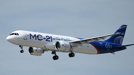 The Russian MC21 passenger jet ©Sergey Mamontov