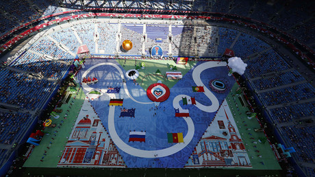 Artists perform during the opening ceremony ahead of the FIFA Confederations Cup © Pawel Kopczynski