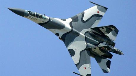 FILE PHOTO © A Russian Sukhoi SU-27 fighter jet. © Regis Duvignau