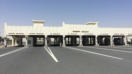A view shows Abu Samra border crossing to Saudi Arabia, in Qatar © Tom Finn