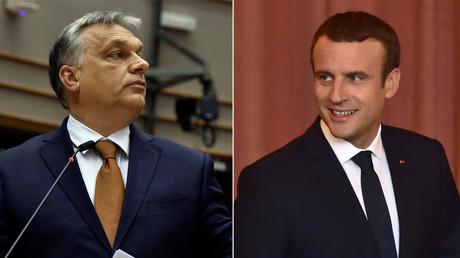Hungarian Prime Minister Viktor Orban and French President Emmanuel Macron © Reuters