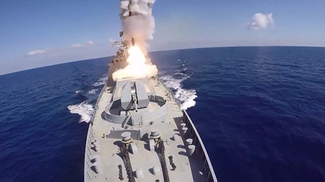 Russian battleships & submarine fire 6 cruise missiles on ISIS targets in Syria – MoD (VIDEO)