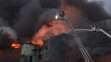 Huge fire at Peruvian shopping mall leaves over 40 injured