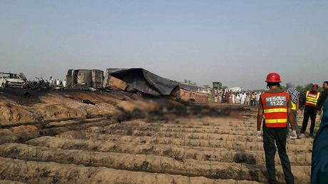 135 people burn to death after oil tanker flips & explodes in Pakistan (GRAPHIC)