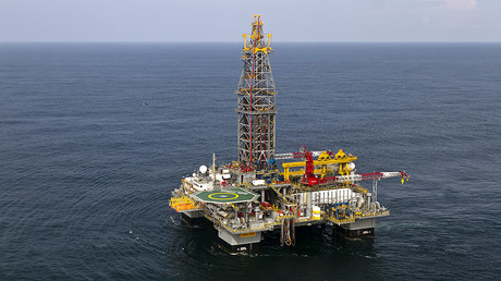 A Tullow Oil company offshore oil platform off the coasts of the French overseas department of Guiana. © Jody Amiet