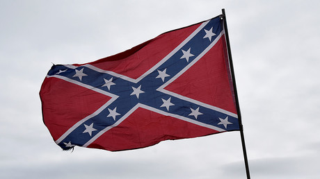 A Confederate flag flying outside a South Carolina ice-cream shop has caused controversy © Nick Oxford