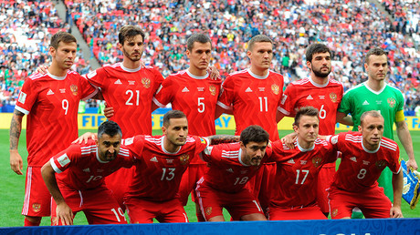 Russia's national team at the 2017 FIFA Confederations Cup © Anton Denisov