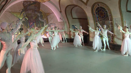Kremlin Ballet performs in Moscow Metro for Confederations Cup fans