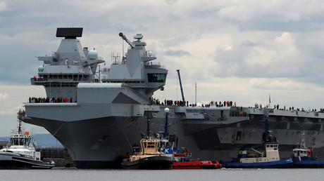 The British aircraft carrier HMS Queen Elizabeth © Russell Cheyne
