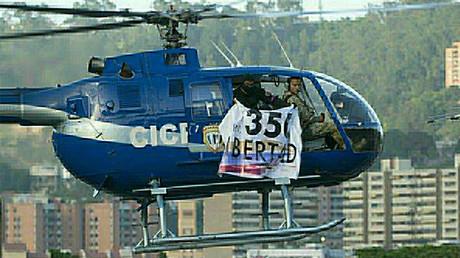 Stolen police helicopter, Caracas, Venezuela June 28, 2017. © actualidadvenezuela.org / Global Look Press
