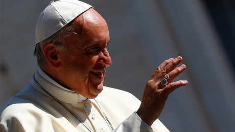 'No whining!' Pope Francis hangs warning sign on door to deter complainers