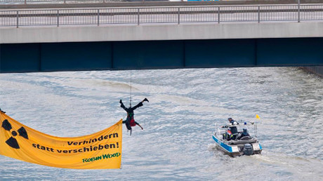 Eco-activists interrupt nuclear waste removal by river in Germany (PHOTOS)