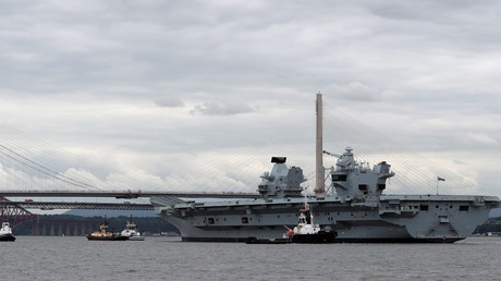 'Big convenient marine target' – Russian MoD on new British aircraft carrier HMS Queen Elizabeth
