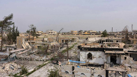 Destroyed buildings in Deir Hafer, Aleppo Governorate © Mohamad Maruf