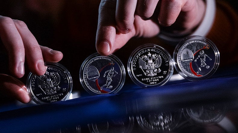 Commemorative Russian coins released for 2018 FIFA World Cup