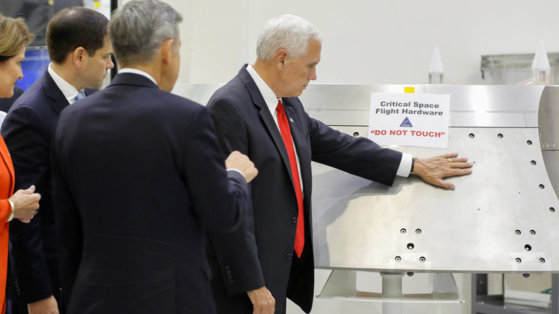 Internet goes into warp drive as Mike Pence lays hand on NASA hardware labelled 'Do not touch'