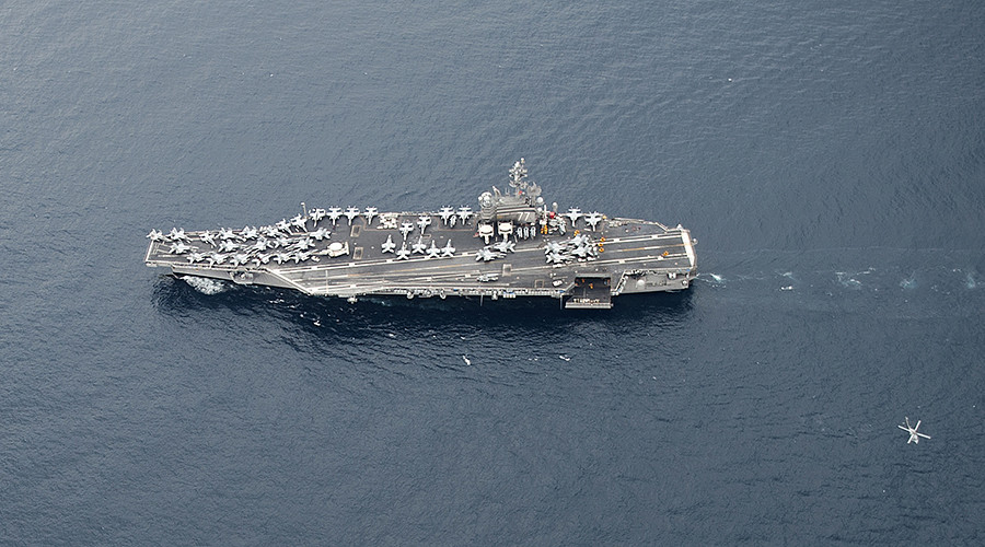 USS George H.W. Bush docks off Israel's shore in first such visit in 17yrs