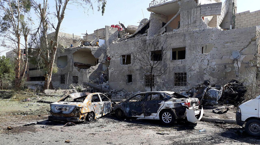 8 killed as suicide bombing hits Damascus – state TV