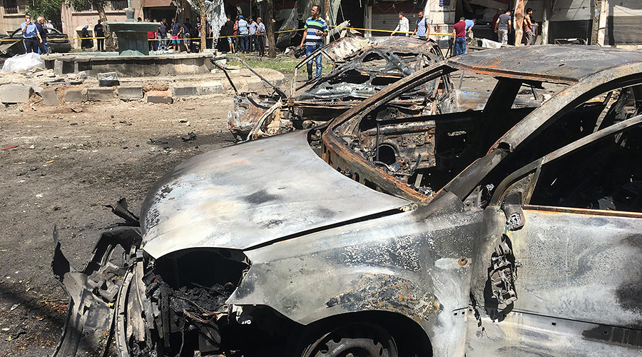 20 killed as suicide bombing hits Damascus (PHOTOS, VIDEO)