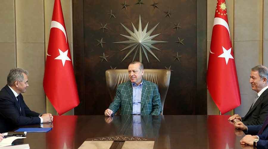 Turkish President Erdogan meets Russia's defense minister in Istanbul