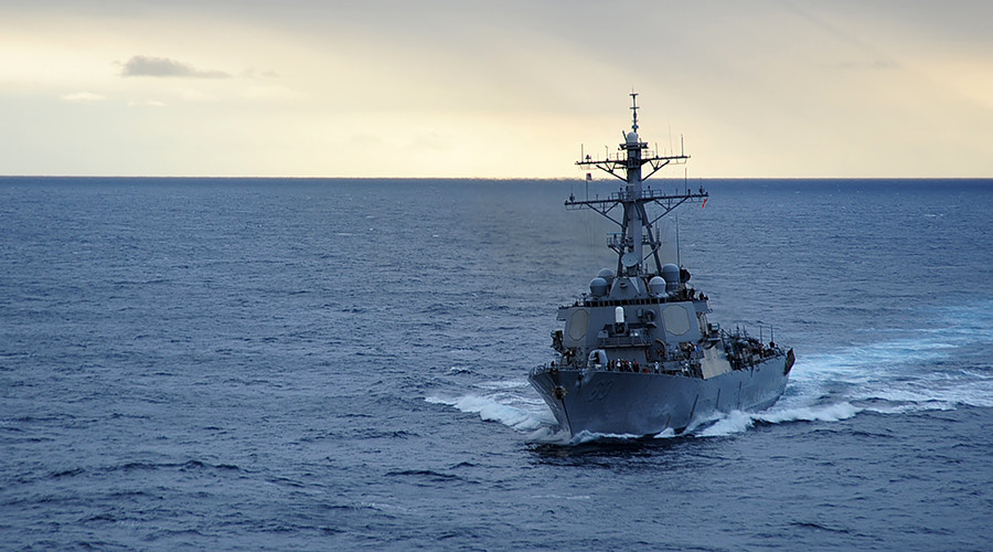 China dispatches military vessels & fighter jets to warn off US warship sailing near disputed island