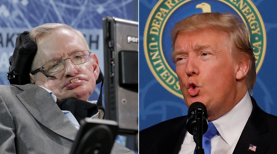 Stephen Hawking: Trump's climate policy could turn Earth into hothouse Venus