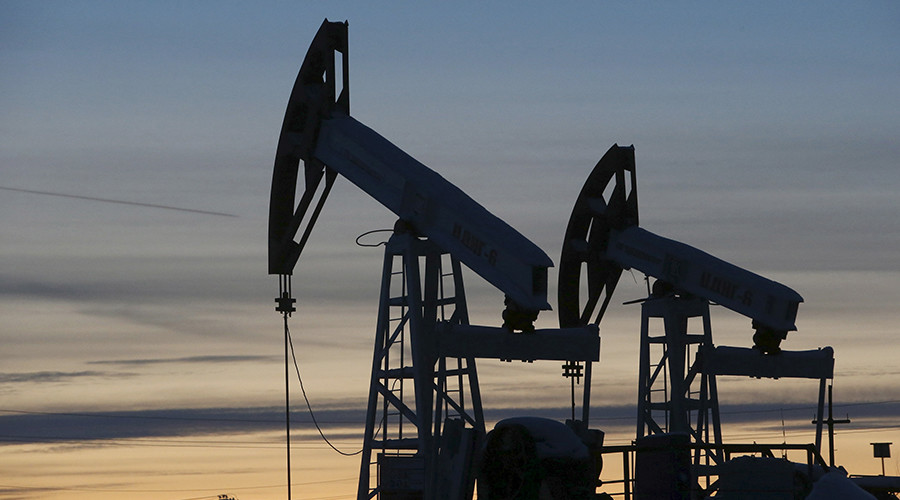Oil price up on first US production decline in months