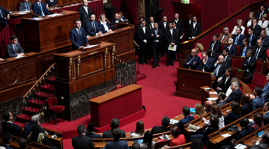 Macron proposes cutting French parliament by third