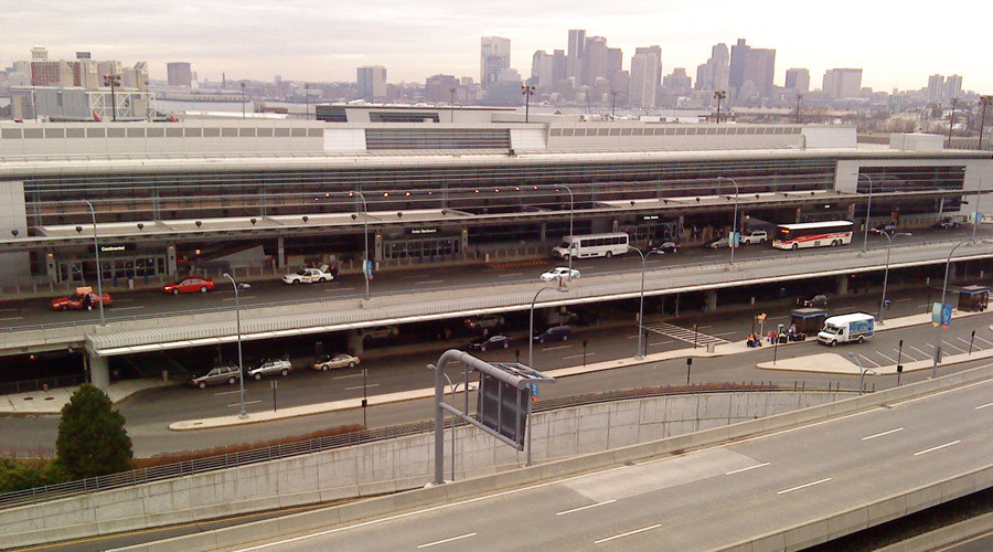 Taxi strikes crowd near Boston Logan Airport, 9 injured