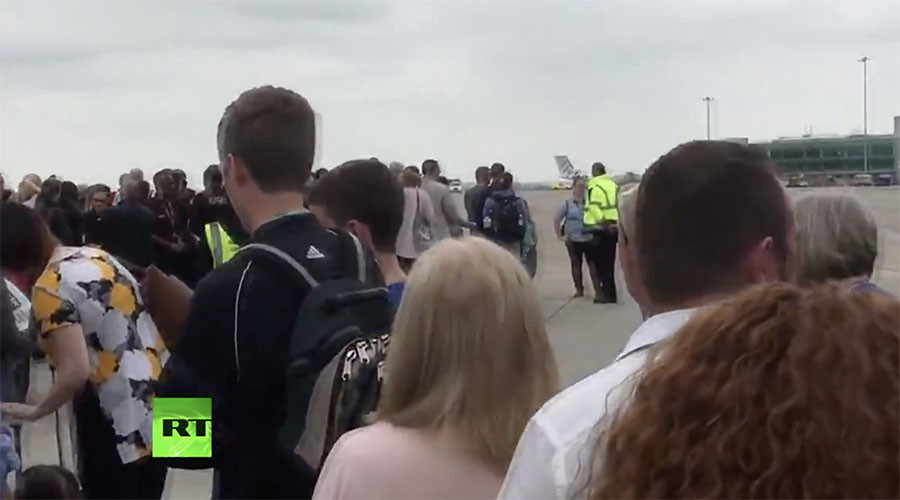Bomb disposal police carry out controlled explosions at Manchester Airport