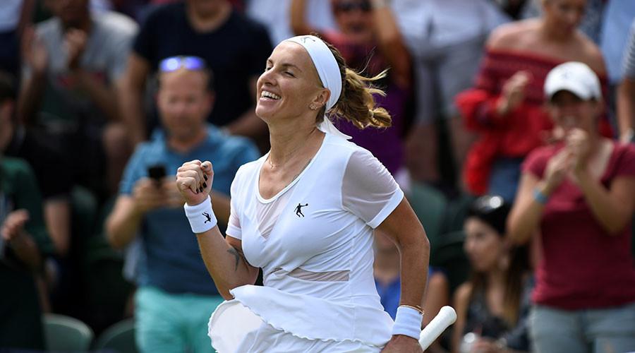 Kuznetsova reaches Wimbledon quarterfinals for 1st time in 10 years