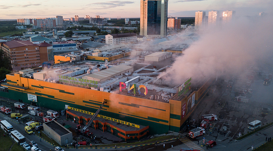 Massive fire in Moscow mall, injuries reported (VIDEO)