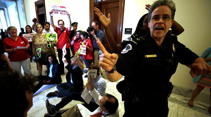 80 arrested on Capitol Hill protesting Senate healthcare bill