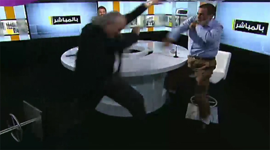 ISIS beheading slight sparks brawl on live TV (VIDEO)