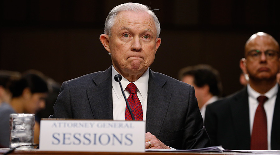 Justice Dept releases Sessions' 'blank' security clearance form