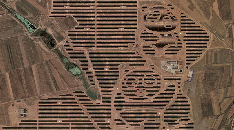 China's giant 'Panda Power Plant' captured in spectacular satellite imagery (PHOTO)