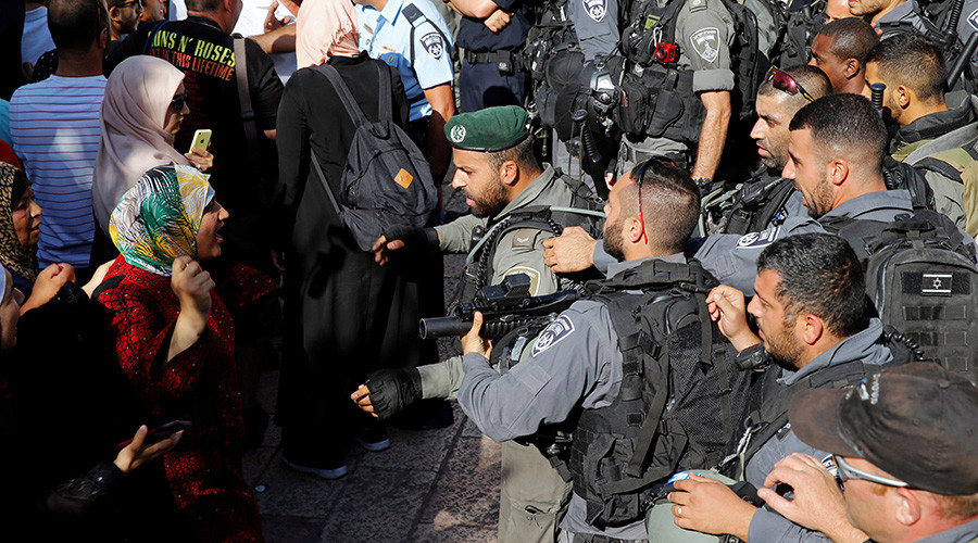 Scuffles erupt outside reopened Temple Mount as Palestinians decry new Israeli security measures