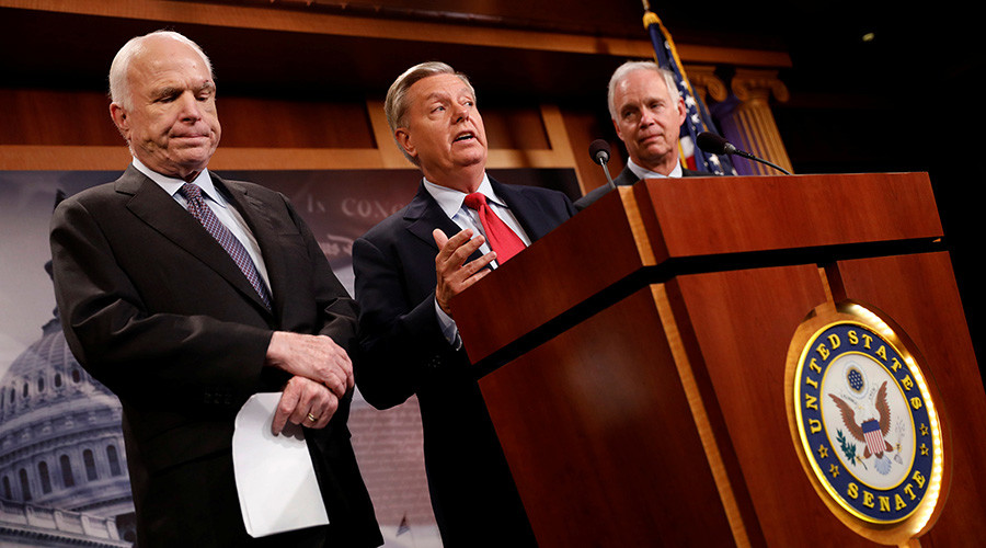GOP splits further as 'skinny' Obamacare repeal may get rewritten in conference