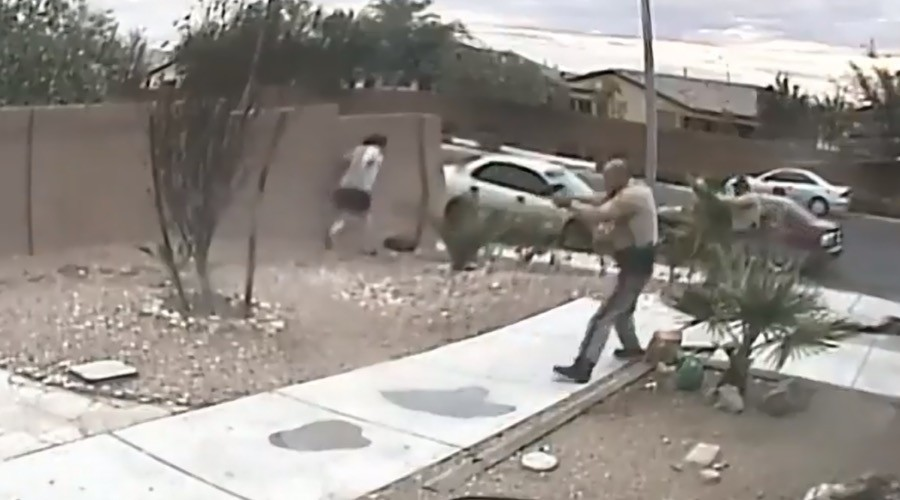Las Vegas police shoot suspect 19 times after turbulent car chase (GRAPHIC VIDEO)