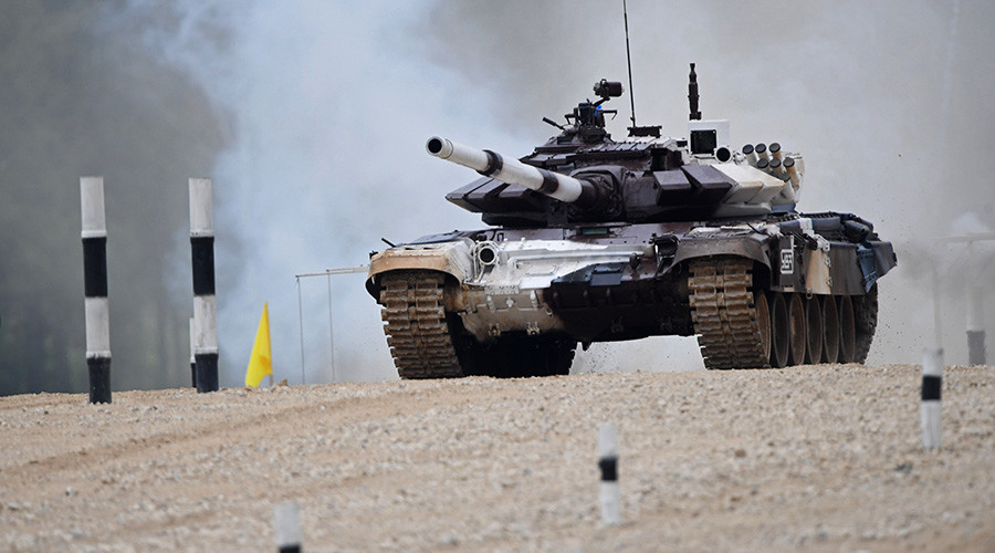 Team Russia sets new record in tank biathlon at Intl' Army Games (VIDEOS)