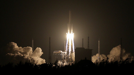 FILE PHOTO: A Long March 5 carrier rocket © China Daily