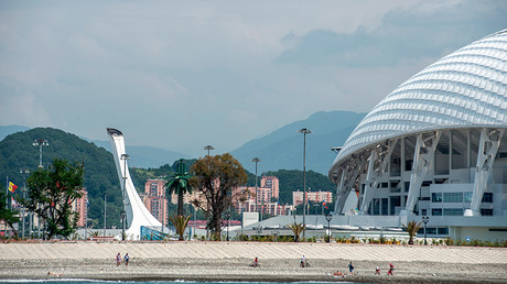 View of the Olympic Cauldron and Fisht Stadium in Sochi's Olympic Park © Mihail Mokrushin