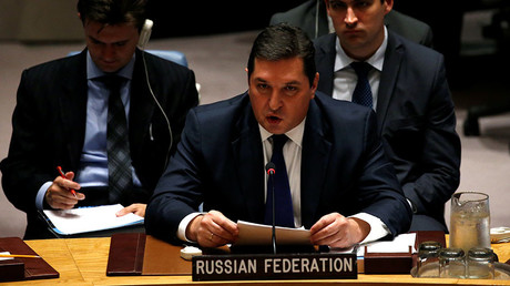 Russian Deputy Ambassador to the United Nations Vladimir Safronkov © Mike Segar