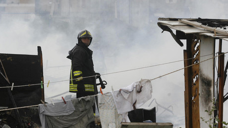 595f38addda4c88c6b8b4567 Residential building collapses near Naples, several feared trapped