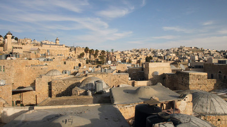 A general view shows the old part of the Palestinian city Hebron ©Hazem Bader