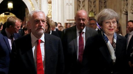 Britain's Prime Minister, Theresa May and opposition Labour Party leader Jeremy Corbyn © Stefan Wermuth
