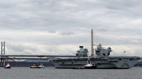 The British aircraft carrier HMS Queen Elizabeth © Russell Cheyne