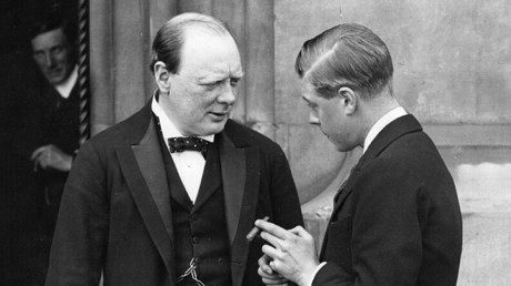 Winston Churchill (1874 - 1965), left, and the Prince of Wales (later King Edward VIII). ©Keystone / Getty Images