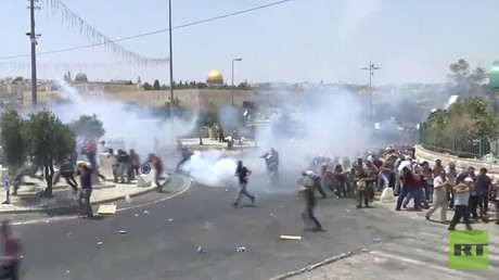 Israeli police clash with Palestinian protesters in West Bank (WATCH LIVE)